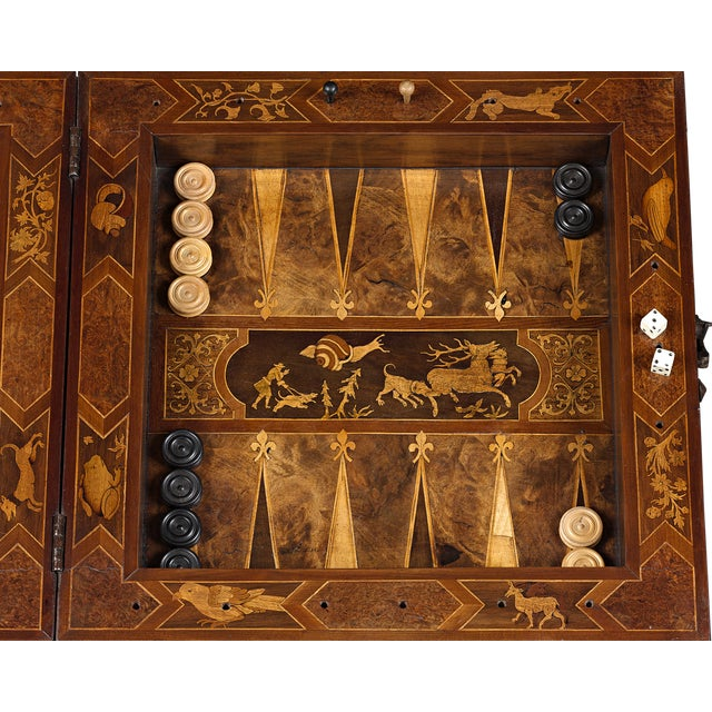 Boxwood 17th-Century German Games Box For Sale - Image 7 of 8