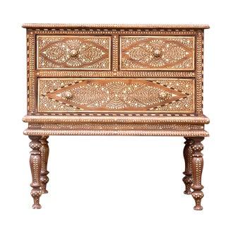 Huballi Inlaid Dresser on Stand For Sale