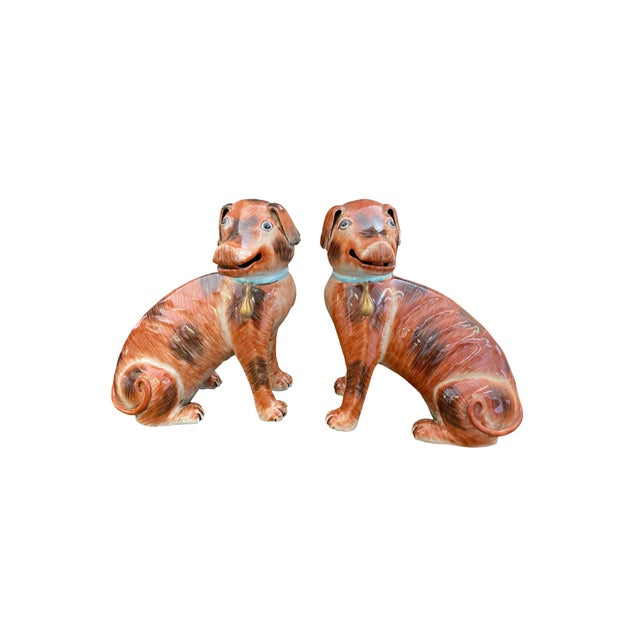 Chinese Antique Chinese Export Dogs - a Pair For Sale - Image 3 of 4
