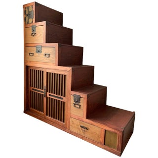Japanese Kaidan Tansu or Staircase Tansu Meiji For Sale