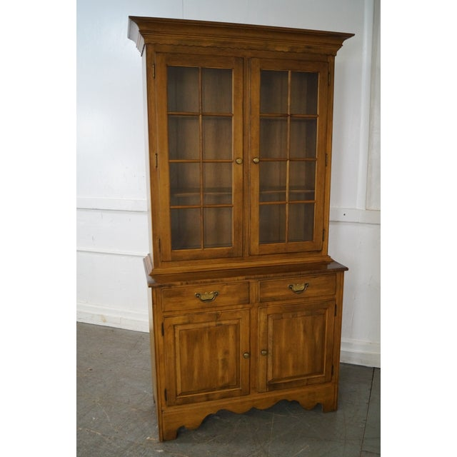 Ethan Allen Circa 1776 Collection Maple China Cabinet Cupboard AGE/COUNTRY OF ORIGIN: Approx 28 years, America...