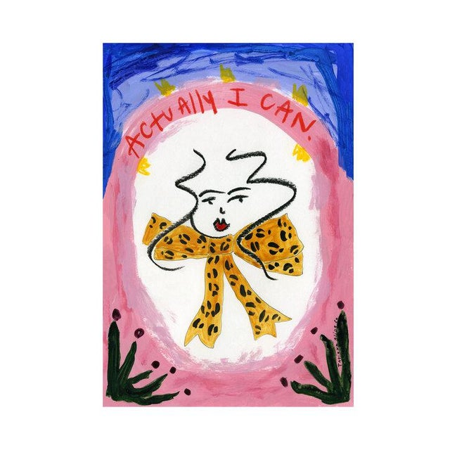 """Paper """"Actually I Can"""" Contemporary Giclée A4 Print For Sale - Image 7 of 7"""