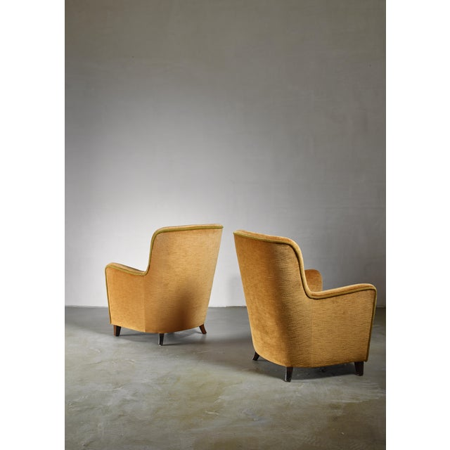 Pair of Easy Chairs by Birte Iversen, Denmark 1940s For Sale - Image 4 of 5