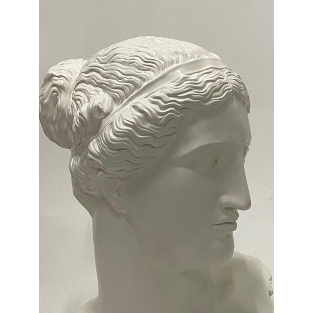 Romantic Fiberglass Bust of Diana, Sculpture For Sale - Image 10 of 13