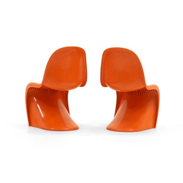 Vintage Orange Verner Panton S Chairs- Set of 7 For Sale In Kansas City - Image 6 of 10