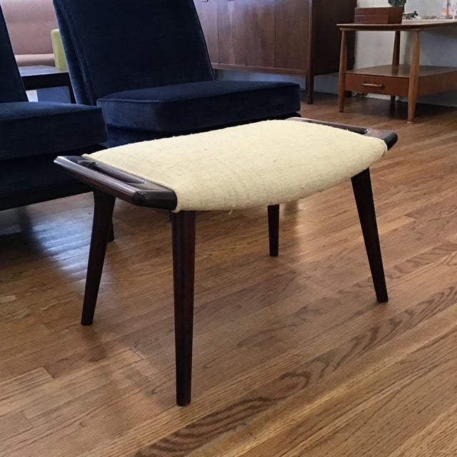 1950's Papa Bear ottoman designed by Hans Wegner. This is an iconic example of the best of Mid-Century Danish design and...