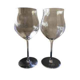 St. Louis Twist 1586 Young Crystal Wine Glasses - a Pair For Sale