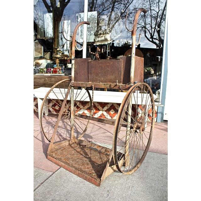 1930s Rusty Iron Welded Bar Cart - Image 4 of 7