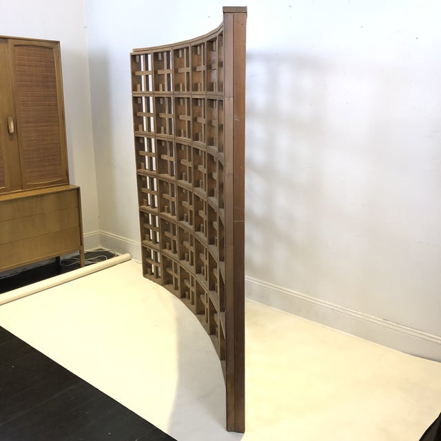 1960s Mid Century Modern Solid Wood Room Divider / Screen For Sale - Image 4 of 13