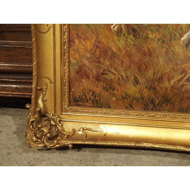 Early 20th Century Antique Hunting Dog Painting by Maurice Etienne Dantan For Sale - Image 5 of 11