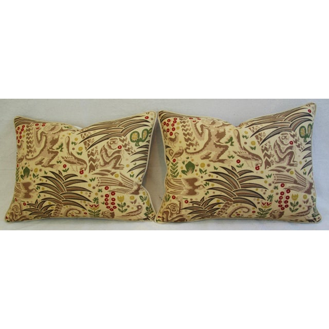 Custom Clarence House Gibbon Fabric Pillows- A Pair - Image 7 of 10