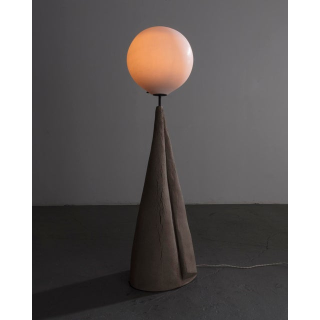 """Marsha"" Floor Lamp. 2018. Unique. Pierre Yovanovitch, Paris. Hand-made ceramic, handblown glass."