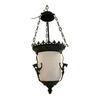 Gothic Verdigris Bronze Lantern For Sale