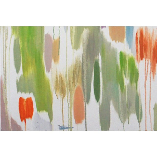 """2016 Natalia Roman Abstract Painting, """"Tropical Vines Palette"""" For Sale - Image 4 of 7"""