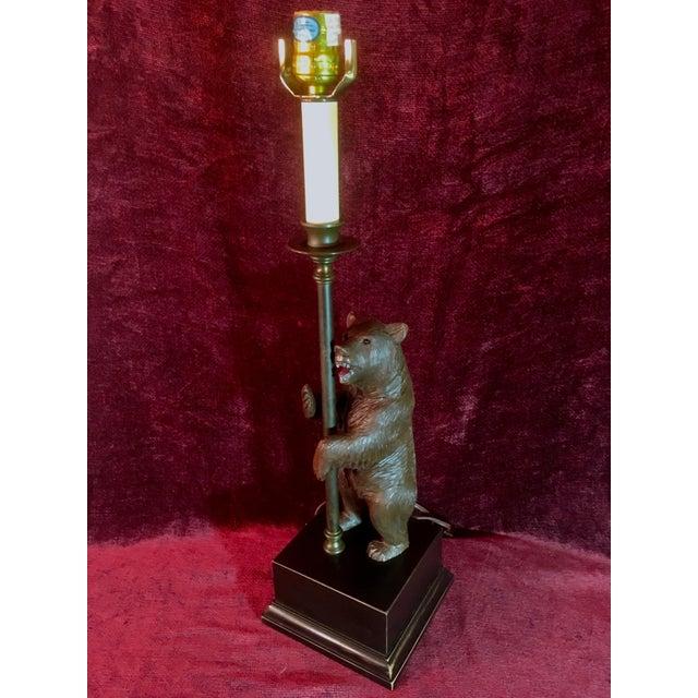 Vintage Black Forest Bear Table Lamp For Sale - Image 13 of 13