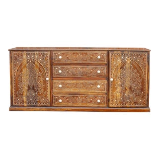 Royal Medallion Bone Inlay Sideboard For Sale
