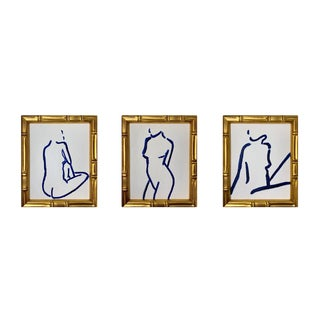 Lindsey Weicht Female Figure Study Drawings - Set of 3 For Sale