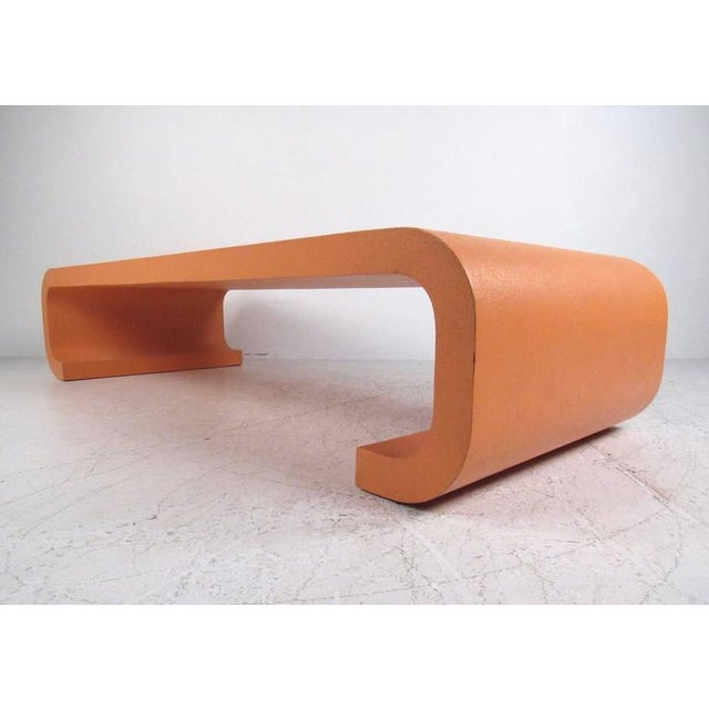 Mid-Century Modern Vintage Modern Karl Springer Style Coffee Table For Sale - Image 3 of 10