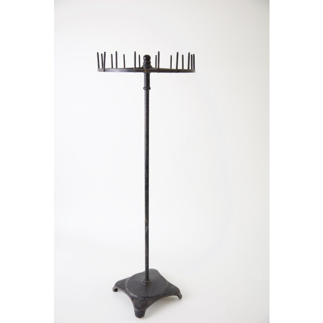 Black Vintage Industrial Iron Display Piece For Sale - Image 8 of 8