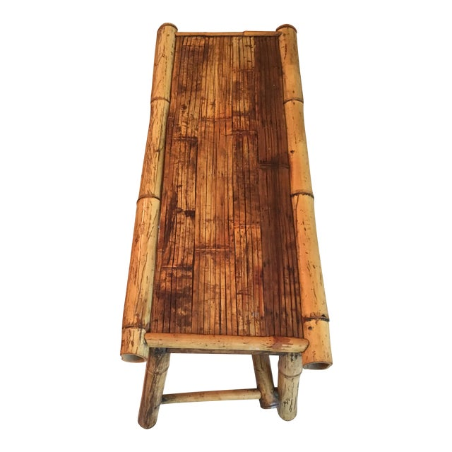 Vintage Bamboo Low Coffee Table - Image 1 of 5