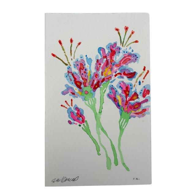 """""""Tropical Stargazer 1"""" Original Watercolor - Image 1 of 3"""