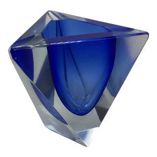 Mid Century Modern Murano Glass Ashtray by Flavio Poli For Sale