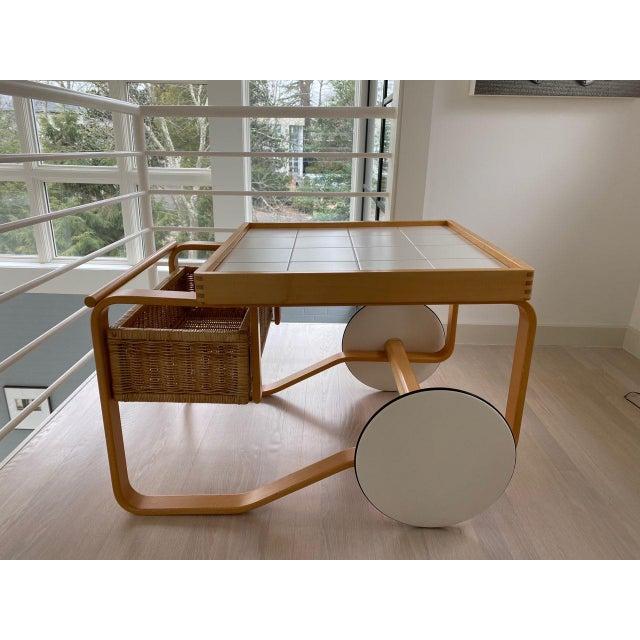 Artek Alvar Aalto 900 - Tea Cart White For Sale - Image 9 of 9