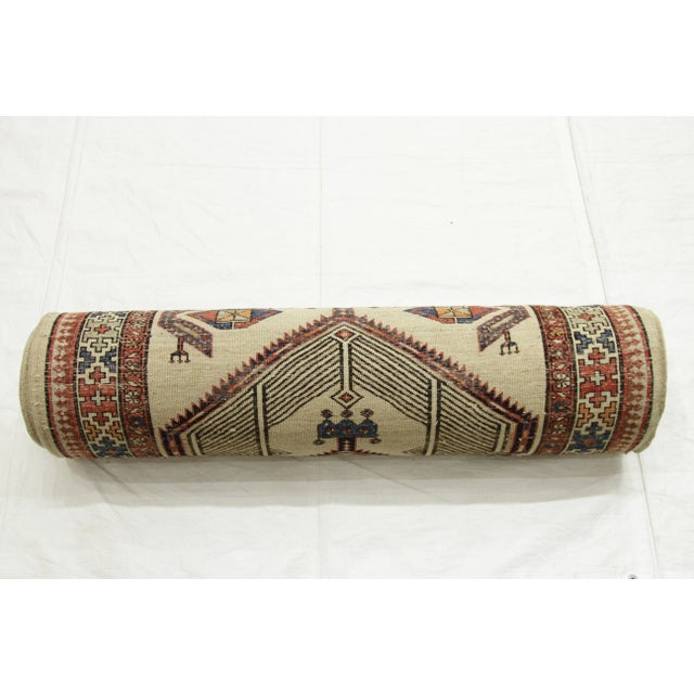 Antique Persian Sarab Rug With Incredibly Detailed Tribal Design - 3′9″ × 15′4″ For Sale - Image 4 of 11