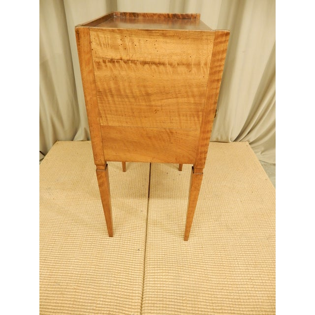 Early 19th Century 19th C. French Walnut Tambour Front Side Table For Sale - Image 5 of 7