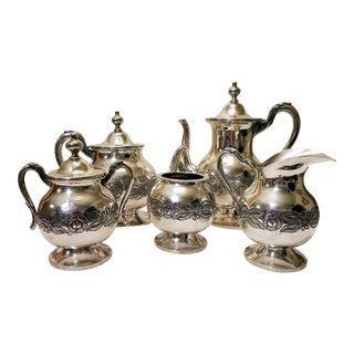 Plateria I Vigueras Sterling Silver Coffee & Tea Set - Set of 5