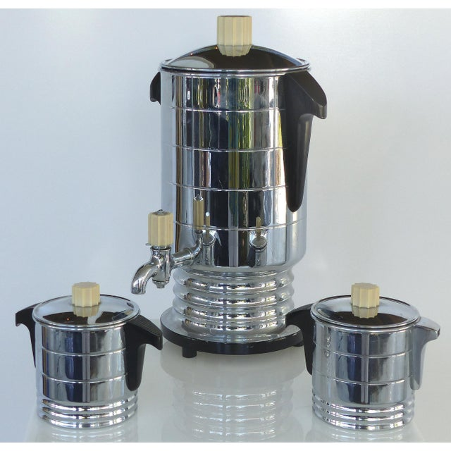 1960s Vintage General Electric Chrome Coffeemaker, Cream & Sugar - Set of 3 For Sale - Image 12 of 12