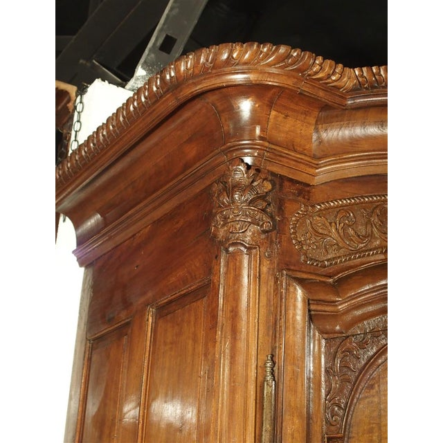 """Early 1700's French Walnut Wood Chateau Armoire, """"The Order of Saint Louis"""" For Sale - Image 4 of 11"""