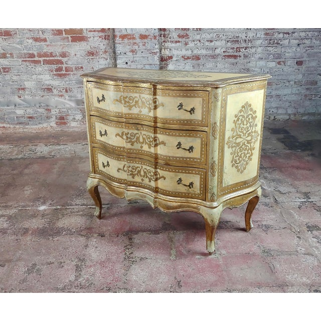 Beautiful Italian Florentine Gilt Chest of Drawers Commode For Sale - Image 10 of 10