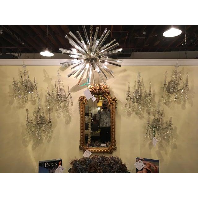 Brass Schonbek Renaissance Style Three Light Wall Sconces- Set of Six For Sale - Image 7 of 9
