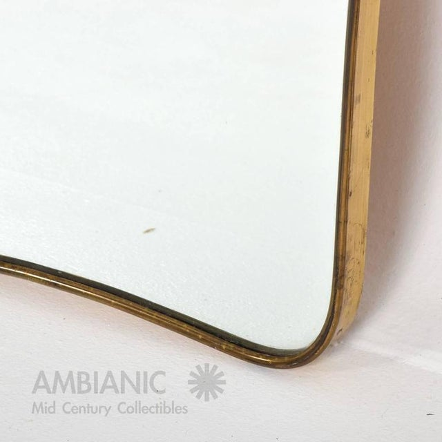 Mid-Century Modern Sculptural Italian Mirror For Sale - Image 4 of 7