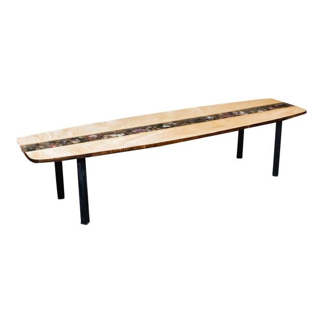 Custom Made Surfboard Coffee Table For Sale