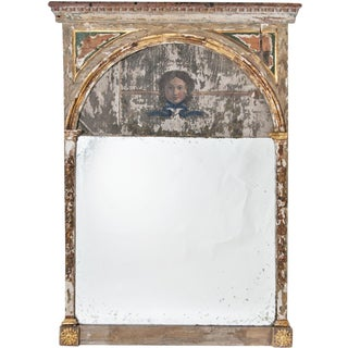 20th Century Neoclassical Trumeau Mirror For Sale