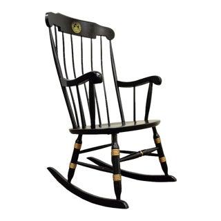 Vintage Sigill College University Nichols & Stone Windsor Rocking Chair Rocker