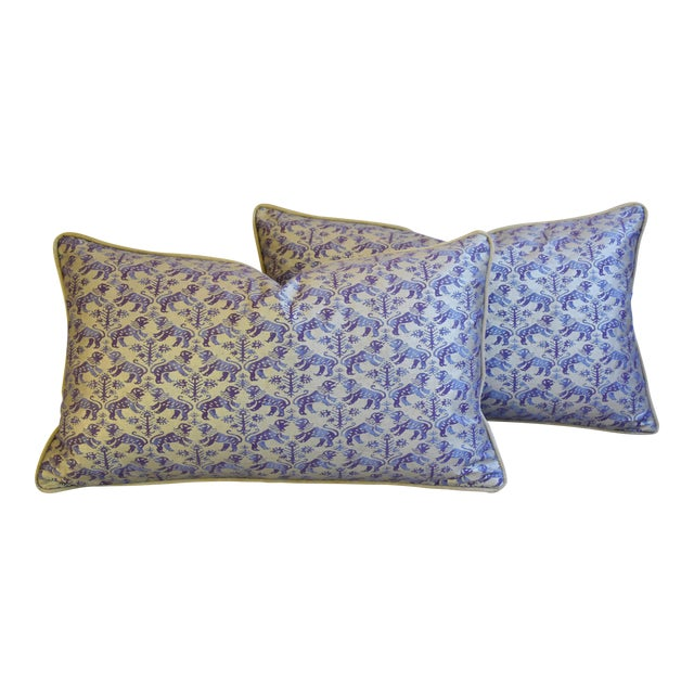 Designer Italian Mariano Fortuny Richelieu Feather/Down Pillows - a Pair - Image 1 of 11