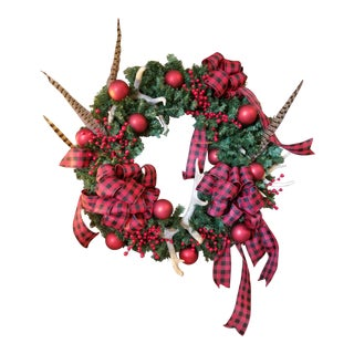 Antler Christmas Wreath For Sale