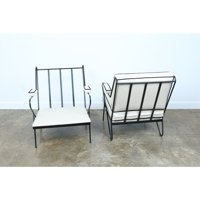 Wrought Iron Custom Hairpin Leg Chairs - A Pair For Sale - Image 11 of 11