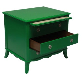 A Pair of Green Lacquered Chests in the Manner of Dorothy Draper For Sale