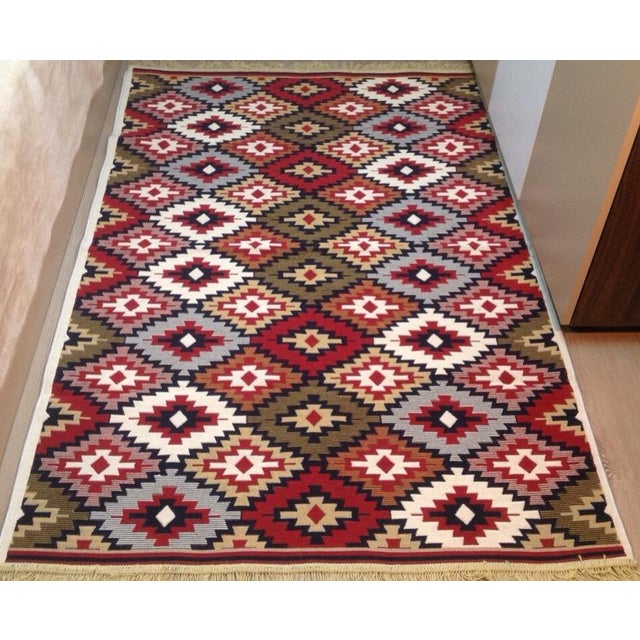 Reversible Kilim Inspired Rug - 3′11″ × 5′11″ - Image 2 of 11