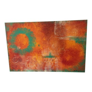 """Joanne Riddle """"Land of the Muse"""" Abstract Painting For Sale"""