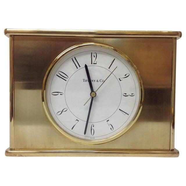 Vintage Tiffany & Co. Brass Mantle Clock - Image 1 of 8