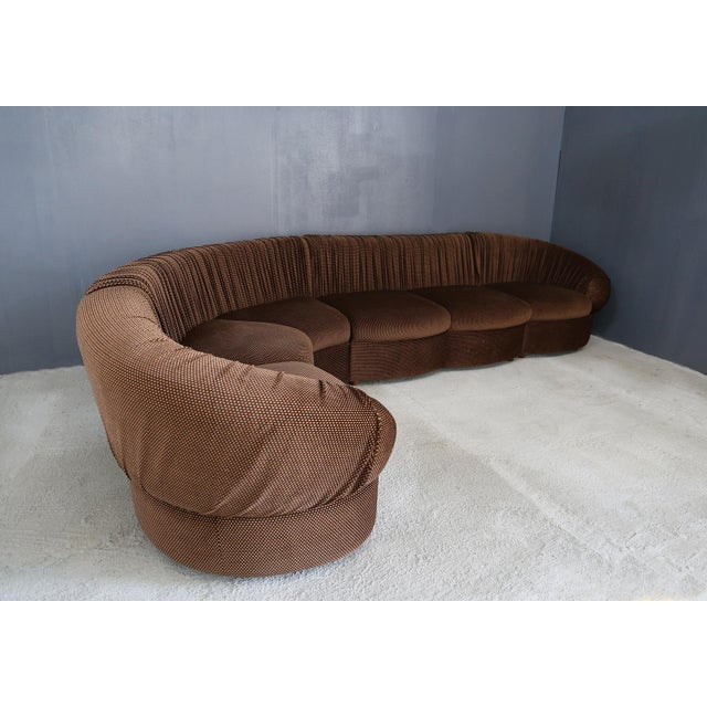 70's Modular Corner Sofa With Armchair. For Sale - Image 4 of 9
