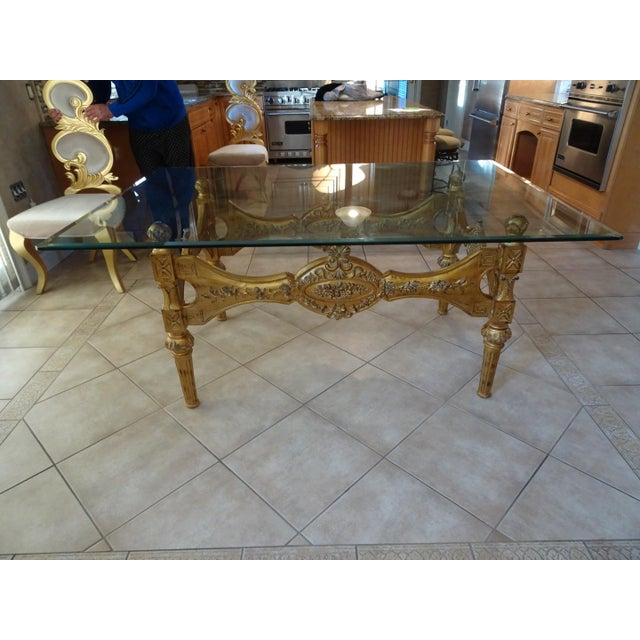 2000 - 2009 Ivory & Gold Italian Baroque Dining Set For Sale - Image 5 of 8