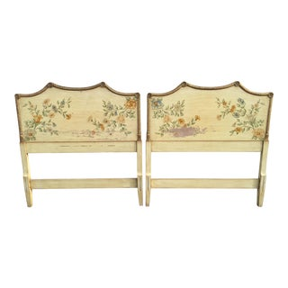 1950s Hollywood Regency Pagoda Twin Headboards - a Pair For Sale