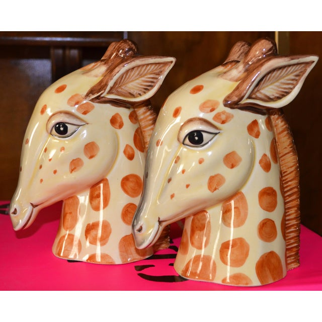Vintage Fitz & Floyd Porcelain Giraffe Bookends - A Pair For Sale - Image 10 of 11