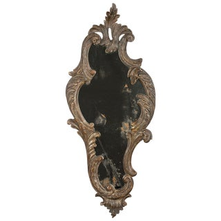 19th Century Italian Carved Wood Mirror For Sale